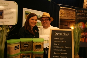 Mais oui! We bring actual cattle feed to a Seattle foodie event.
