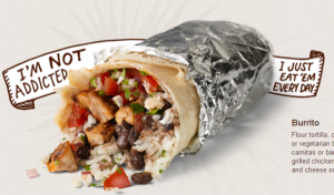 Can someone explain to me in what way a burrito a day is sustainable? Wake up, folks. It's marketing. No more, no less.