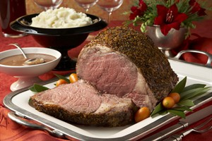 Black tie Beef Roast with Chocolate-Port Sauce with Goat Cheese Mashed Potatoes