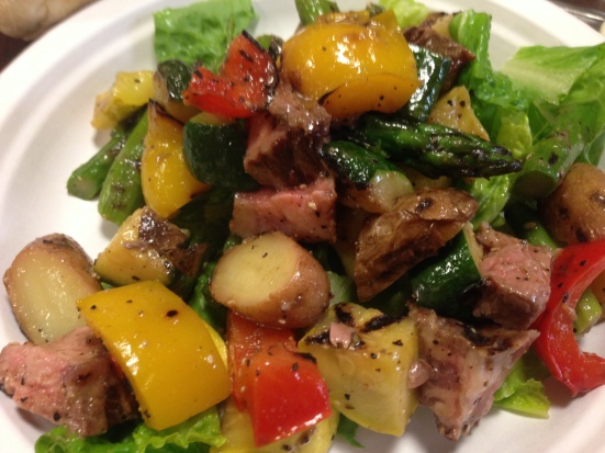 Your iron-packed steak salad doesn't have to be that salad-y. Click for recipe.
