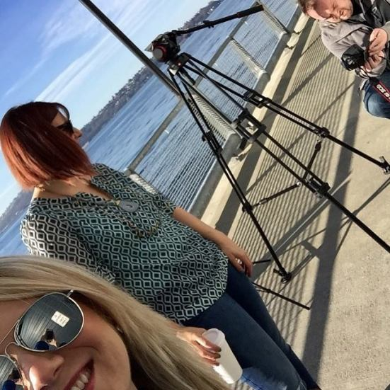 It was a beautiful day for filming the finale on the Seattle Waterfront!